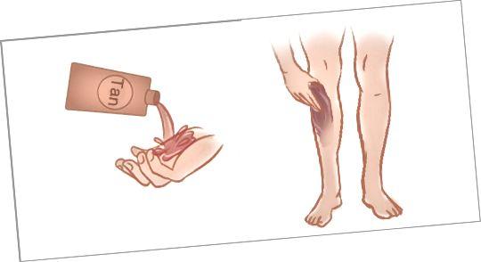 مرحله 9 - خودتان را بر روی پاها بمالید (اختیاری)