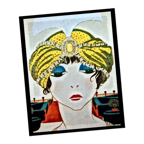 Οι τουρμπάνες, τα τοκ και οι σφιγκτήρες ήταν καταλληλότεροι για κοντύτερα μαλλιά, λεπτές γραμμές και τα ψηλά περιλαίμια και περιτυλίγματα της δεκαετίας του 1920.