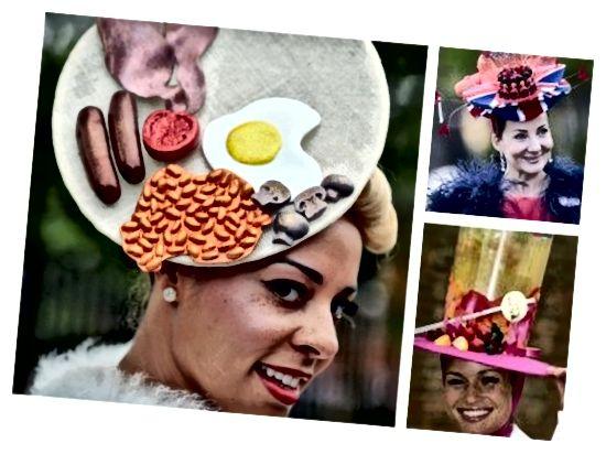 کلاه های حواس پرت از روز خانمها در Royal Ascot (اسکار طراحی کلاه).