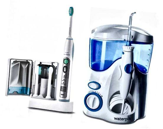 Sonic Οδοντόβουρτσα (αριστερά) και Water Flosser