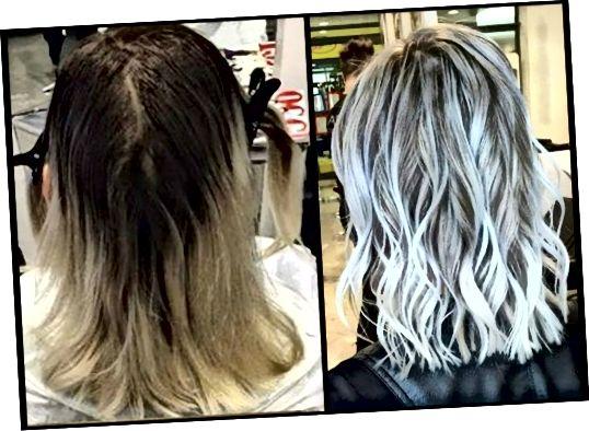 Ņemiet vērā, ka Olaplex ir salabojis sabrukušos matus un to, cik veselīgi mati izskatās pat pēc turpmākas to izgaismošanas un apstrādes.