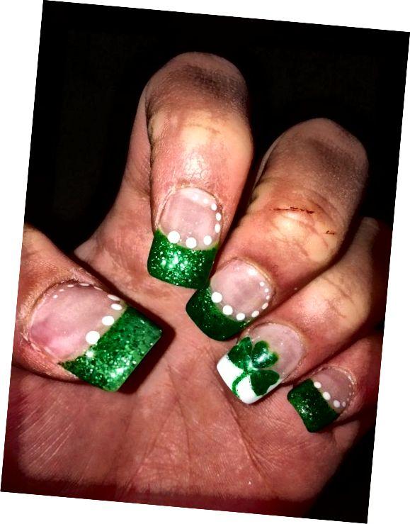 zelené tipy na nechty