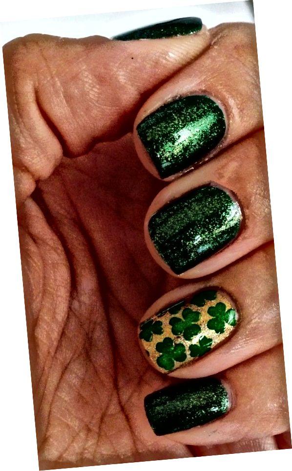 trblietavé zelené nechty
