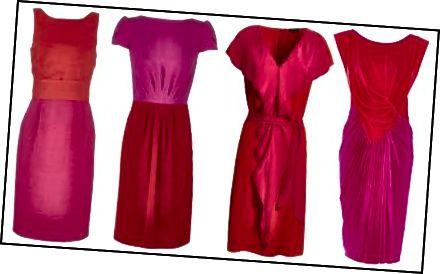 Barva a styl těchto šatů jsou vítanou změnou oproti základní černé.