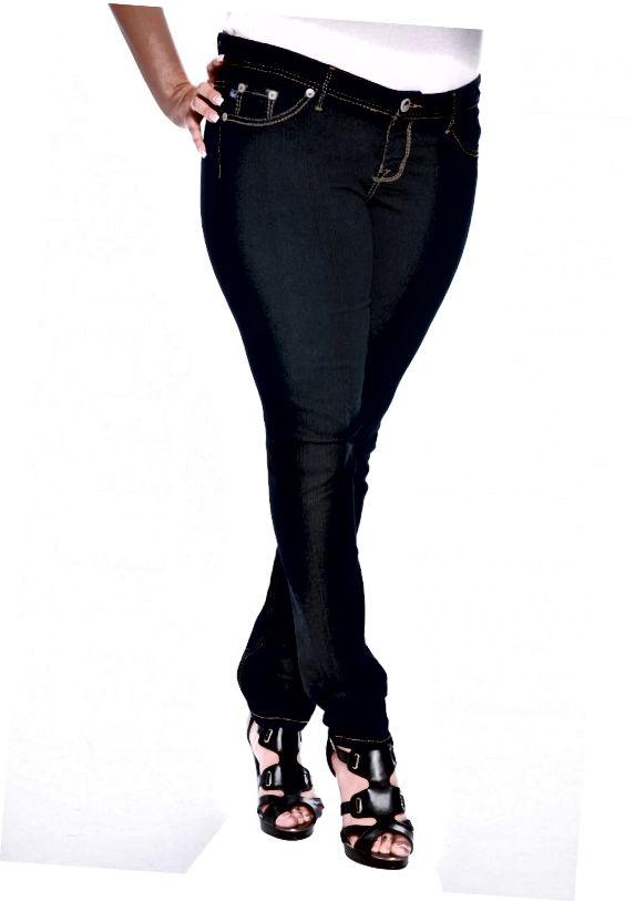 Vrstva tyto hubené džíny s dlouhou pletenou vestu vyrovnat proporce.