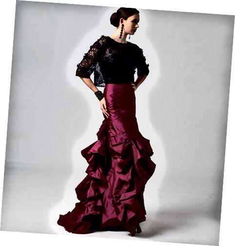 यह स्कर्ट पोशाक की तरह दिखने के बिना औपचारिक अवसरों के लिए स्टीमपंक की सही मात्रा है।