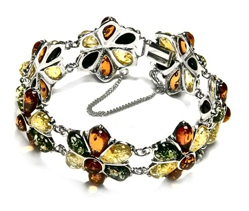 Multicolored Amber Bangle