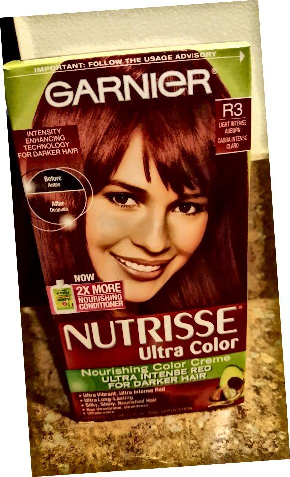 Garnier Nutrisse 가벼운 강렬한 Auburn-R3에있는 더 어두운 머리를위한 매우 색깔 매우 강렬한 빨강