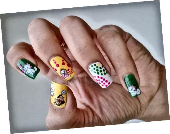 Roztomilé samolepky na malování na nehty s puntíky a laky na nehty z Číny