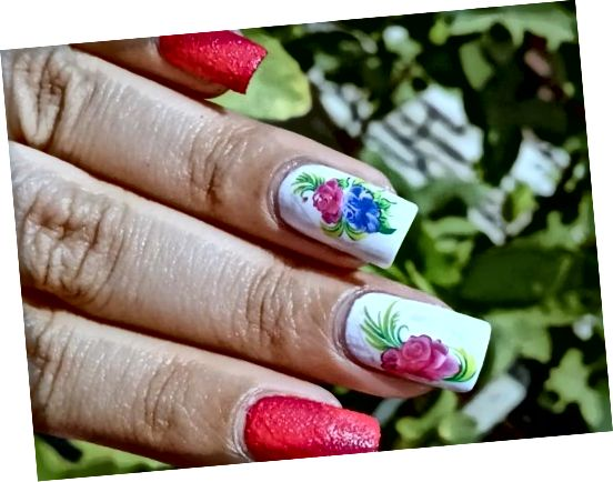 Pink-Purple Flower Nail Art