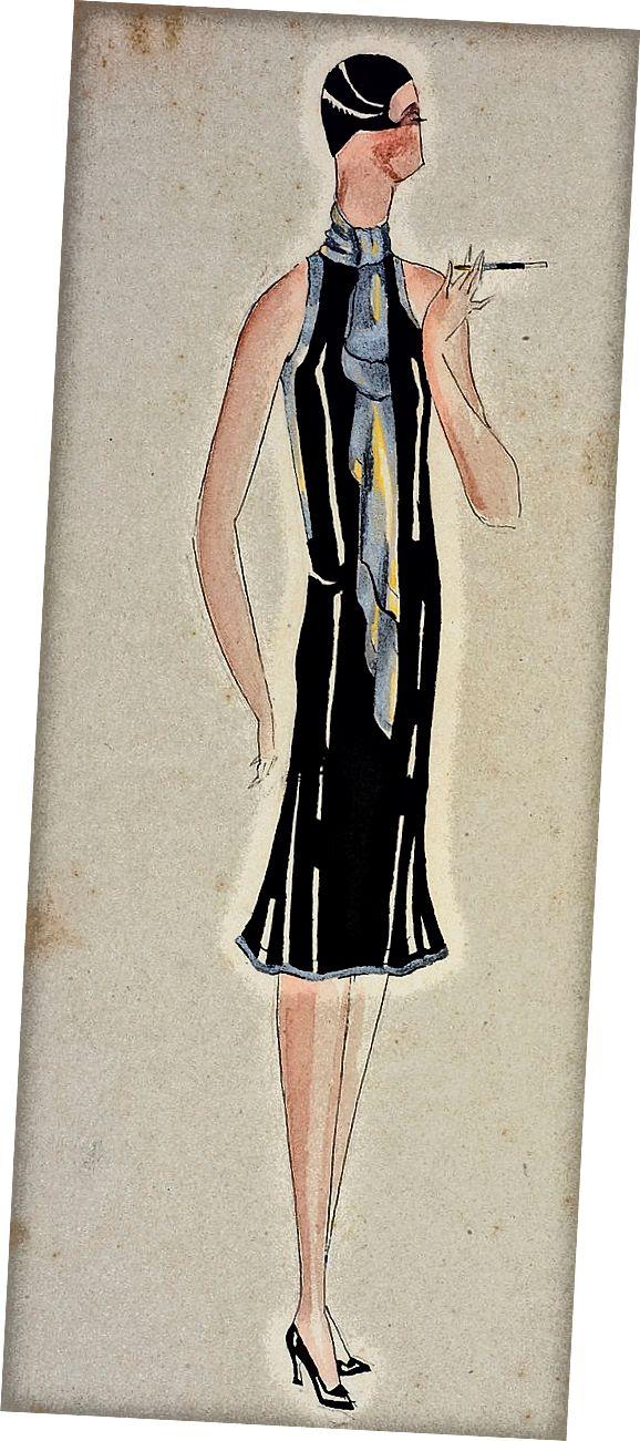 Ένα κλασικό φόρεμα με φτερά από τις αρχές του 20ου αιώνα.