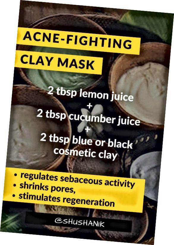 این ماسک مناسب برای پوست های بدون آکنه است. به تنظیم فعالیت چربی ، کاهش التهاب و پاکسازی پوست کمک می کند.