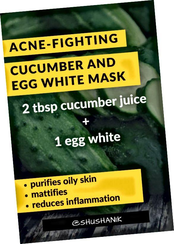 ماسک DIY با خیار و سفیده تخم مرغ در بروز آکنه و سایر مشکلات پوستی کمک می کند.