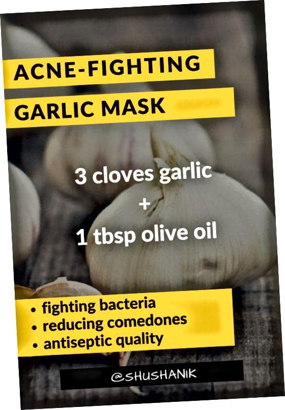 سیر بهترین ضد عفونی کننده طبیعی است که به پاکسازی پوست کمک می کند.