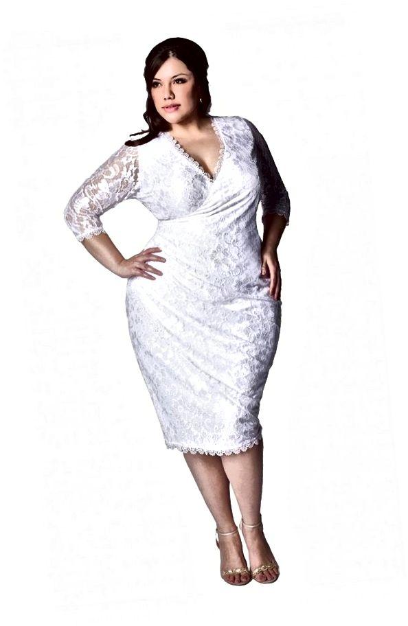 Το γυναικείο φόρεμα Gisela Plus Size της IGIGI - Κομψή σιλουέτα faux wrap με ντεκολτέ V, αυτό το φόρεμα κόβεται για να ενισχύσει και να ορίσει τις καμπύλες σας.