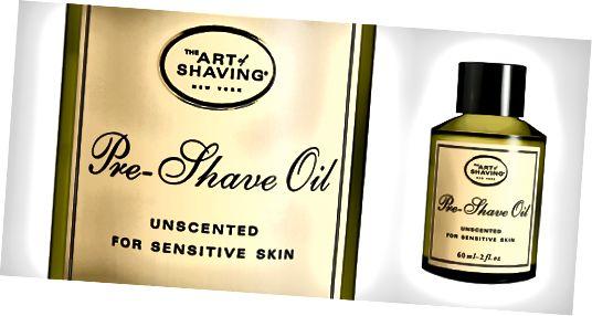 Umění holicího oleje před holením
