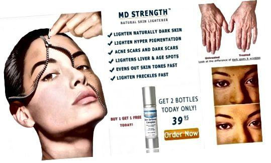 تبلیغات روشنایی پوست در آسیا متداول است