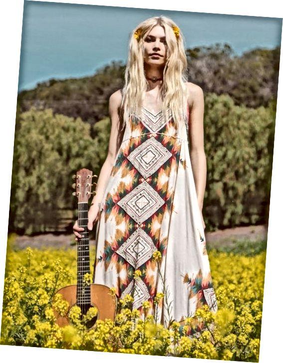 Ίμπιζα Μίντι | Εκπληκτικό φόρεμα midi με πολύχρωμες φυλές εμπνευσμένες