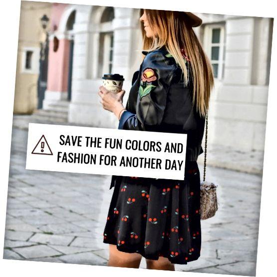 Ga niet voor een fashion statement. Vermijd mode-uitspraken, tenzij het dat soort publiek is.
