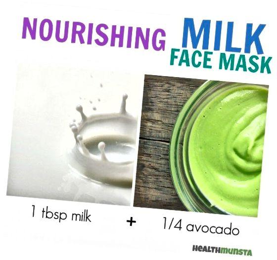 ავოკადო + რძე ქმნის მკვებავი სახის ნიღბს, რომელიც კანს ატენიანებს და განაახლებს კანს