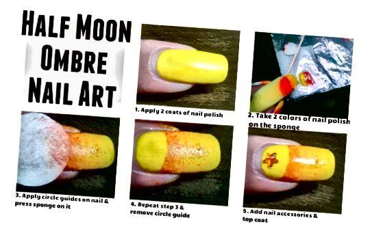 आधा चाँद ओम्ब्रे कील कला