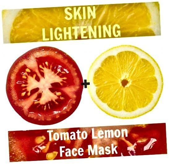 Użyj dwusilnikowej kombinacji cytryny i pomidora, aby czerpać nienagannie jasną i świeżą skórę. To jest dla tych, którzy chcą naturalnie rozjaśnić skórę.