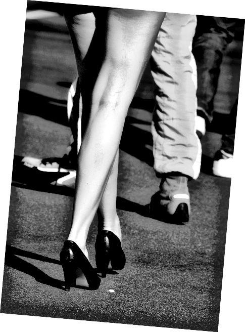 I hubená, dlouhá, krásná noha může mít nějakou celulitidu.