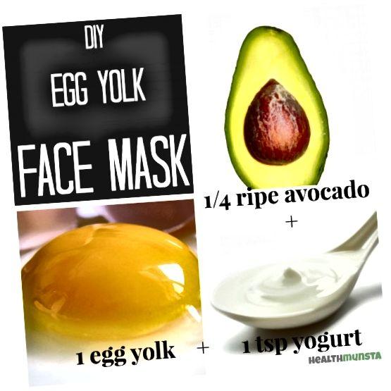 ماسک صورت زرده تخم مرغ برای همه انواع پوست با آووکادو و ماست.