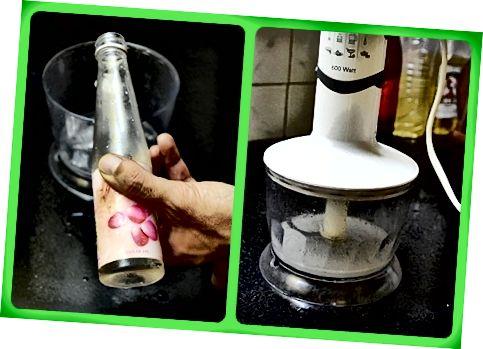 मिश्रण को ब्लेंड करने से पहले गुलाब जल की कुछ बूंदें मिलाएं।