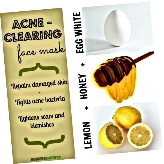 Masky na obličej s bílou vejcí mohou pomoci snížit akné.