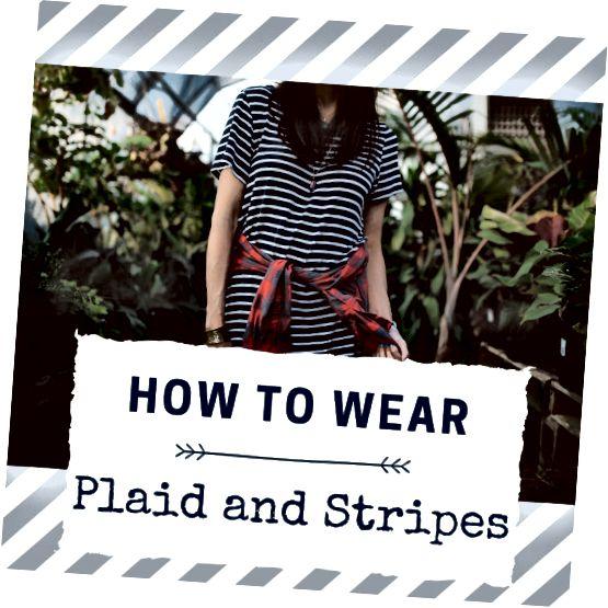 कैसे एक साथ पट्टियाँ और प्लेड पहनने के लिए