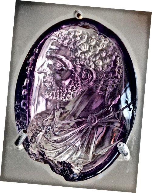 Carcalla- ի փորագրված ամեթիստի կիսանդրին