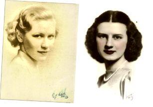 οι πατρικές μου γιαγιάδες (L) και οι μητρικές (R) κουνιστές μερικές ημι-κοντές χτενίσματα κατά τη διάρκεια της δεκαετίας του 1930