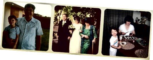 κοντά μαλλιά ως κοριτσάκι και την ημέρα του γάμου μου, 1985 - 2011