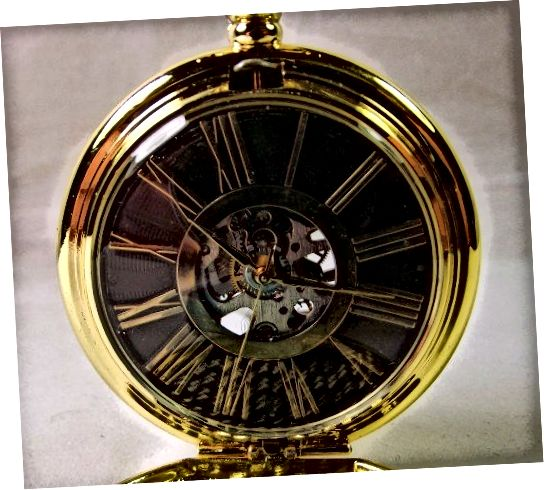 Kronen & Söhne KSP034 Μηχανικό ρολόι τσέπης. Σημειώστε ότι ούτε το καντράν ούτε τα χέρια είναι σωστά ευθυγραμμισμένα.