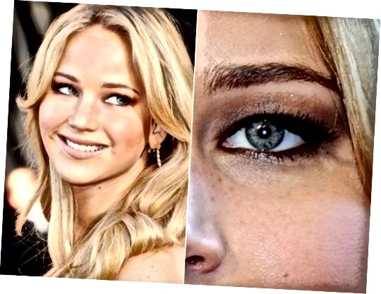 Jennifer Lawrence má extrémně zakryté oči.