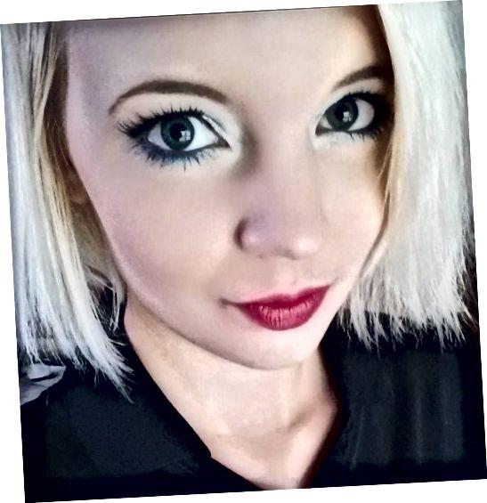 Toto je můj pravidelný make-up pro moje víčka s kapucí a nízké obočí.