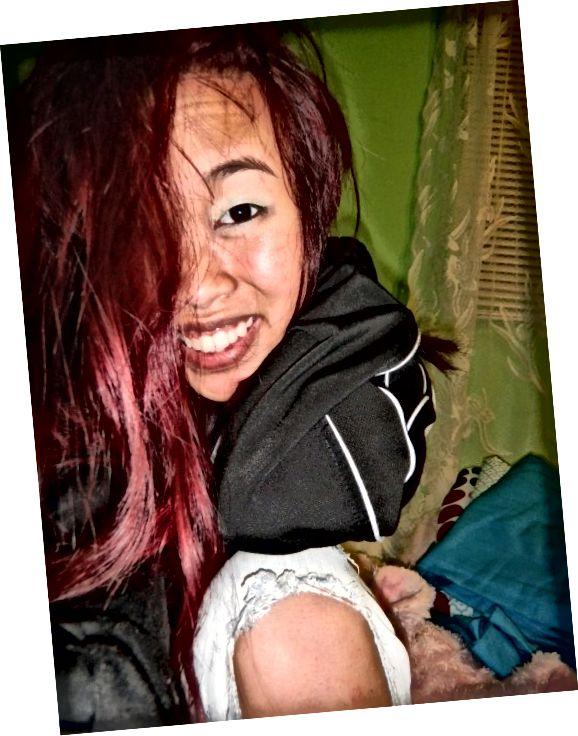 मेरे लाल बालों में!