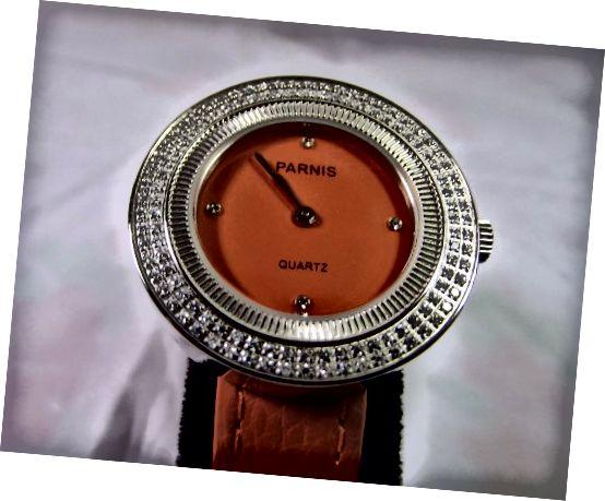 Kwarcowy damski zegarek Parnis Orange 33 mm