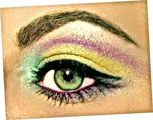 tạo đường kẻ mắt hiệu ứng có cánh bằng cách thêm nước vào phấn lỏng của bạn, mang lại màu sắc rực rỡ. Tuyệt vời cho vẻ ngoài của bữa tiệc.