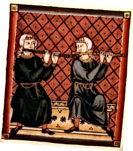 1200 - Միջնադարի զգեստներ - շատ նման են վաղ միջնադարի զգեստներին