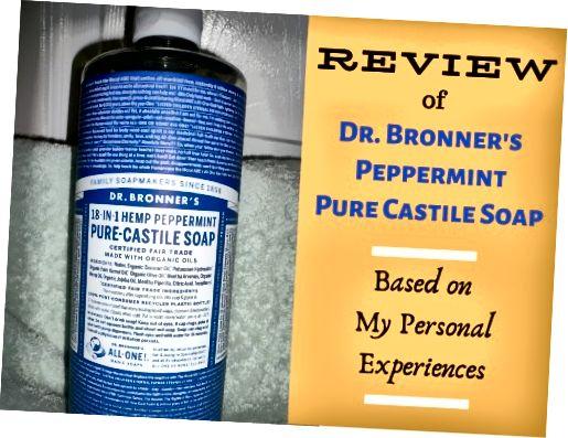 Bronnerova konope Peppermint Pure Castile Mydlo