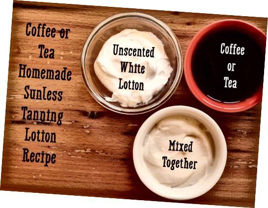 دستور تهیه لوسیون برنزه کردن بدون قهوه یا چای.