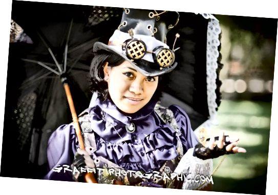एशियाई स्टीमपंक लेडी