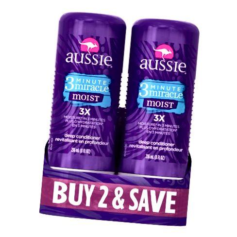 Aussie's 3 Minute Miracle Two-Pack ass a ville Walmarts verfügbar.