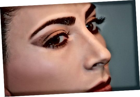 एक महिला के चेहरे और त्वचा का क्लोजअप