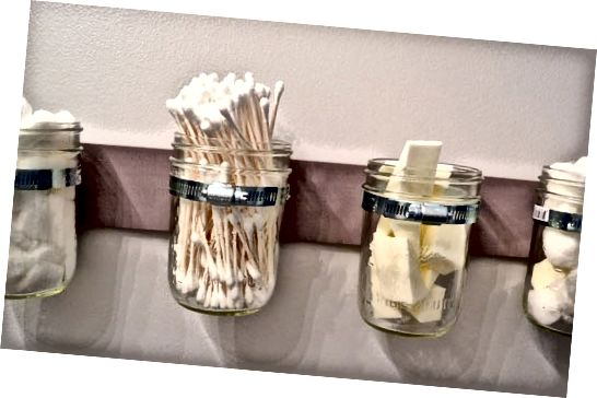 Mason Jar Storage | Ideje za izdelavo ličil