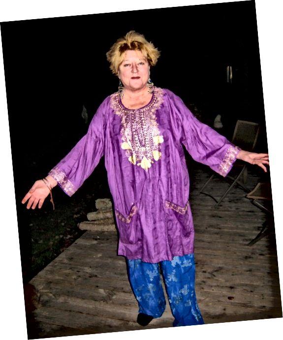 Dashiki styl na starší ženu