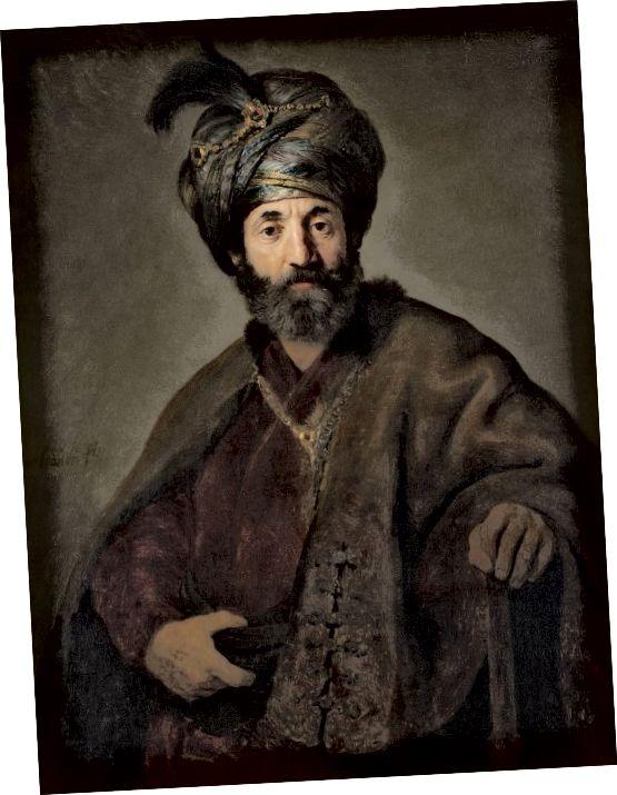 1635 مرد با لباس شرقی توسط رامبراند