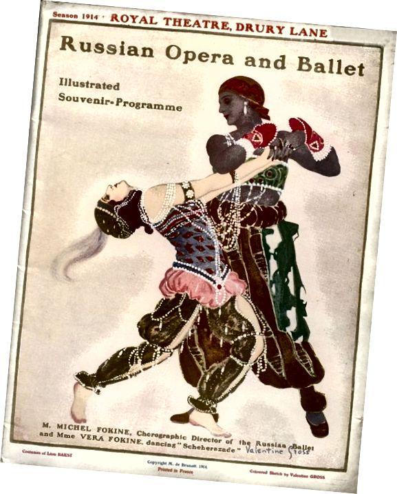 پوستر برای Scheherezade در سال 1914؛ لباس هایی که توسط لئون باکست طراحی شده است